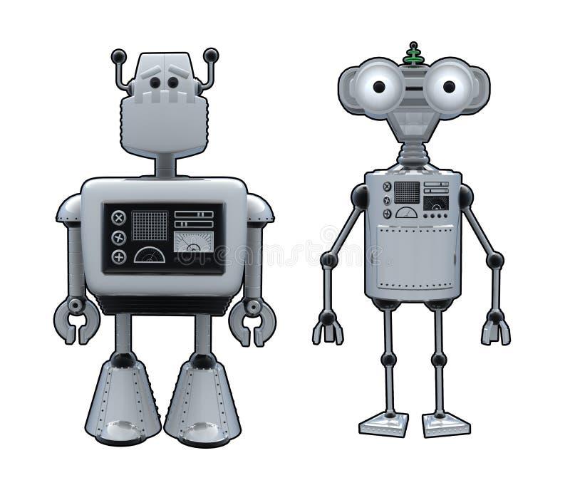 Fumetti del robot illustrazione vettoriale