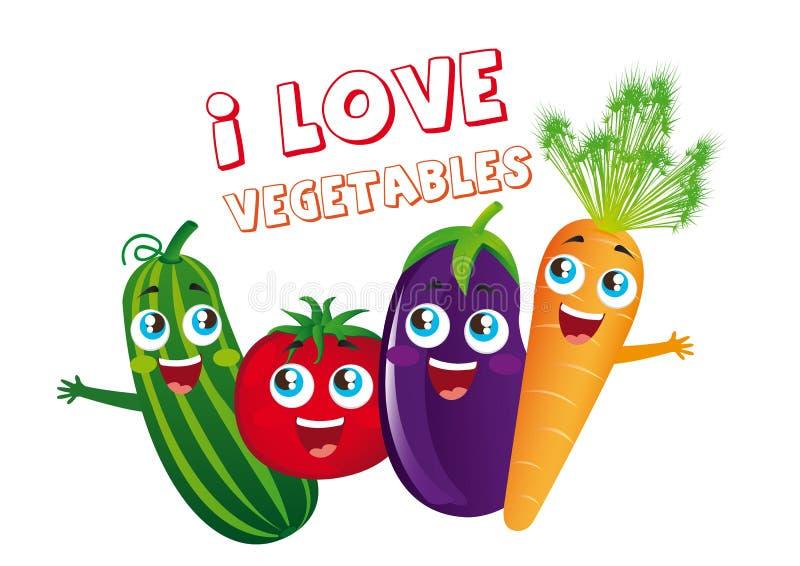 Fumetti delle verdure illustrazione di stock