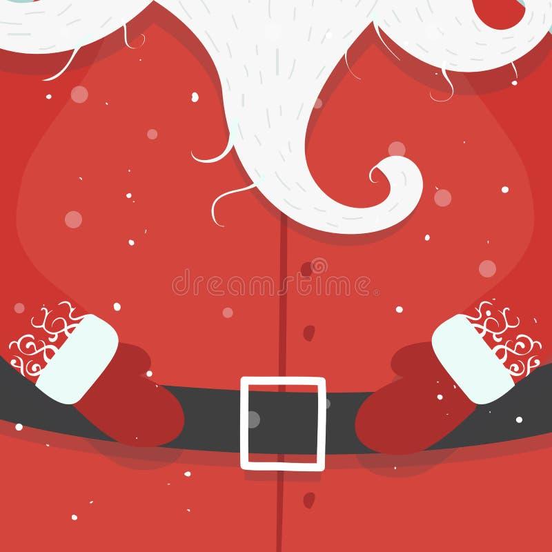 Fumetto allegro il Babbo Natale Concetto anno di nuovo e di natale illustrazione di stock