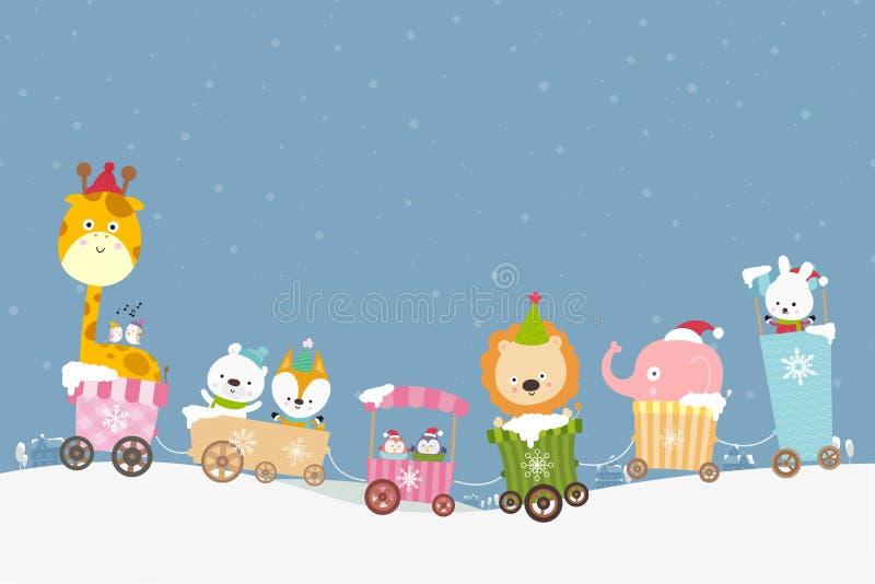 Fumetto animale sul sorriso del treno con felicità 001 royalty illustrazione gratis