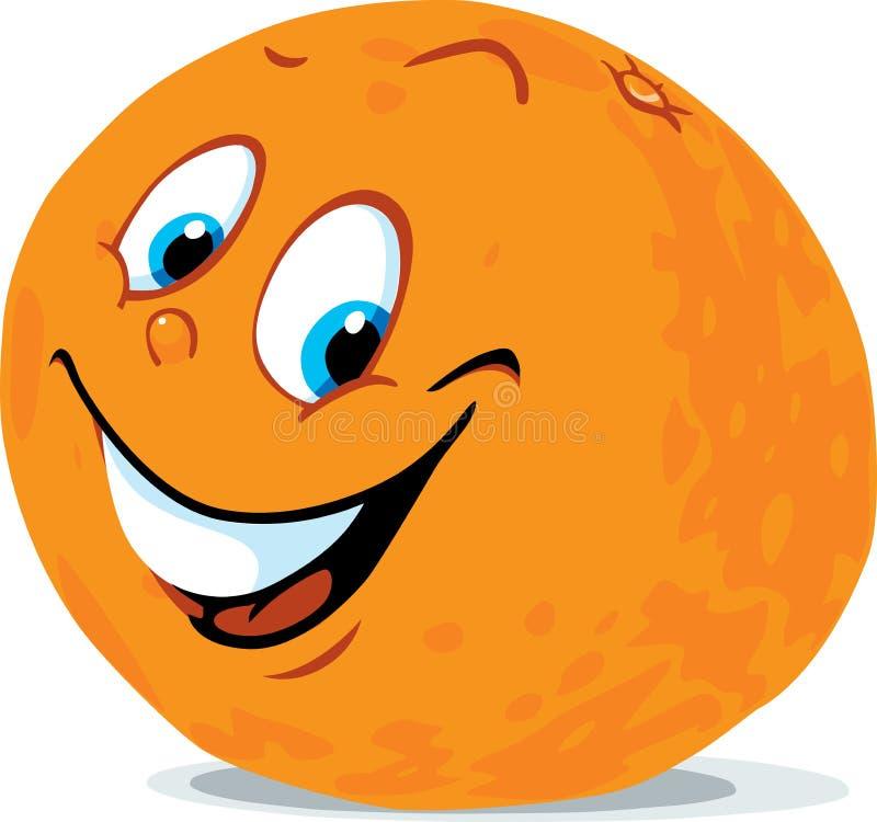 Fumetto arancio sveglio degli agrumi - vettore illustrazione di stock
