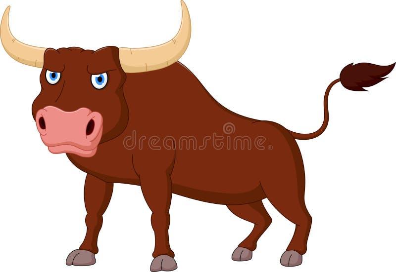 Fumetto arrabbiato del toro