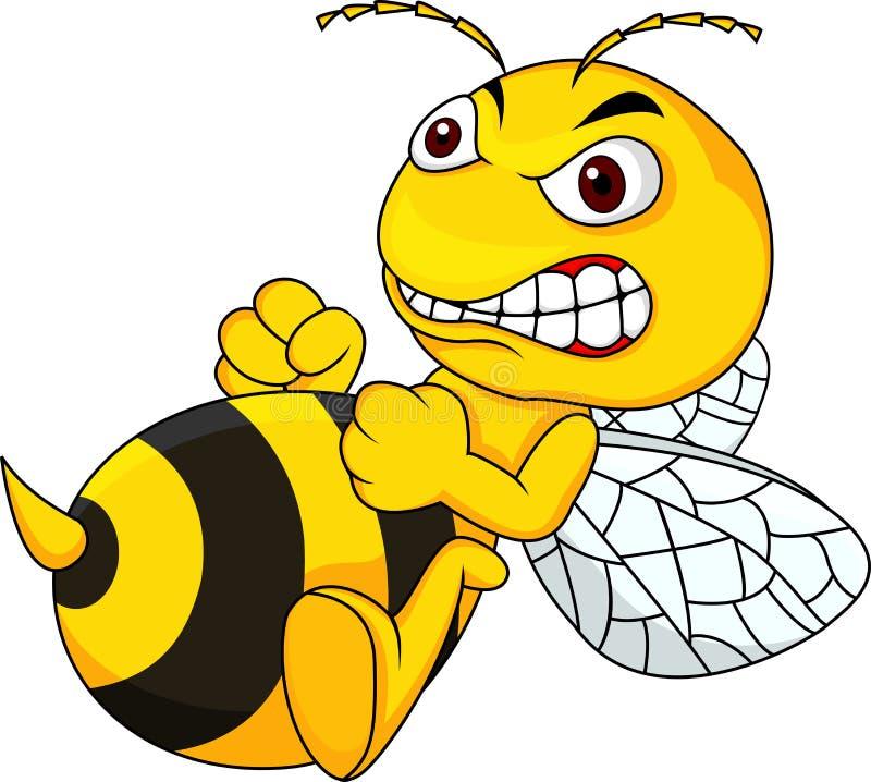 Fumetto arrabbiato dell'ape royalty illustrazione gratis