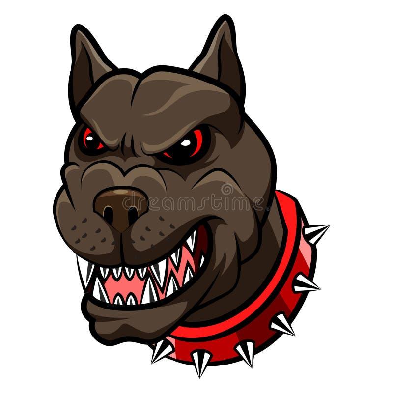 Fumetto arrabbiato della mascotte del cane royalty illustrazione gratis