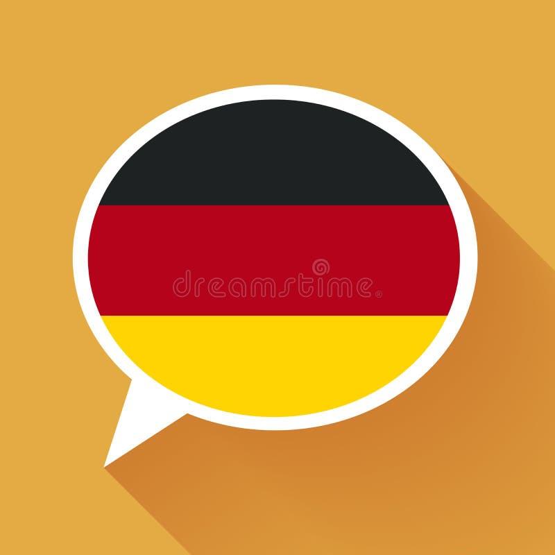 Fumetto bianco con la bandiera della germania su fondo - Bandiera della pagina di colorazione della germania ...