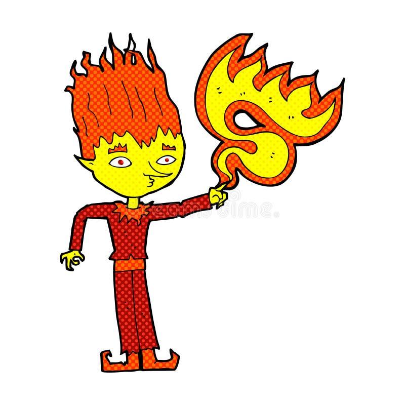 fumetto comico di spirito del fuoco illustrazione vettoriale