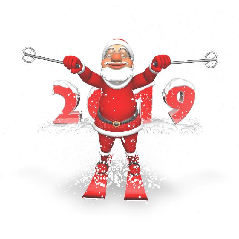 Fumetto 3D Santa Character illustrazione vettoriale