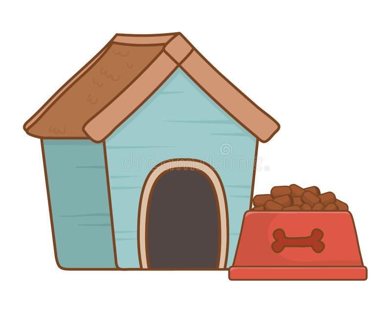 Fumetto degli accessori dell'animale domestico illustrazione di stock