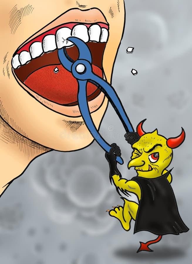 Fumetto dei batteri del dente fotografia stock libera da diritti