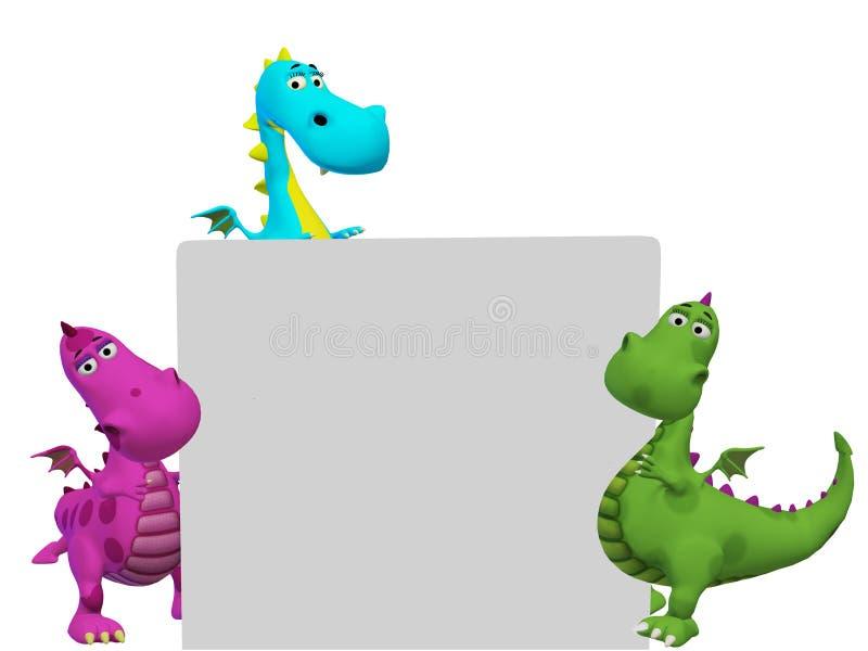 Fumetto dei draghi 3d illustrazione di stock