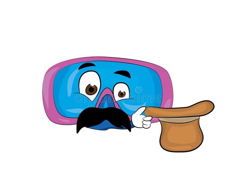 Fumetto dei tubi di livello illustrazione di stock