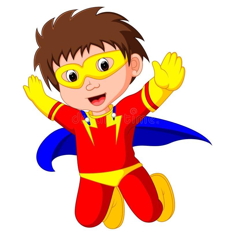 Fumetto del bambino del supereroe illustrazione di stock