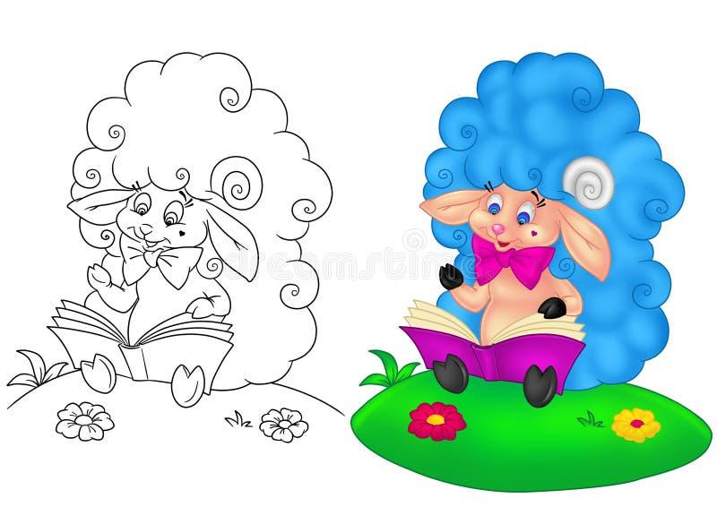 Fumetto del bambino dell'agnello illustrazione di stock