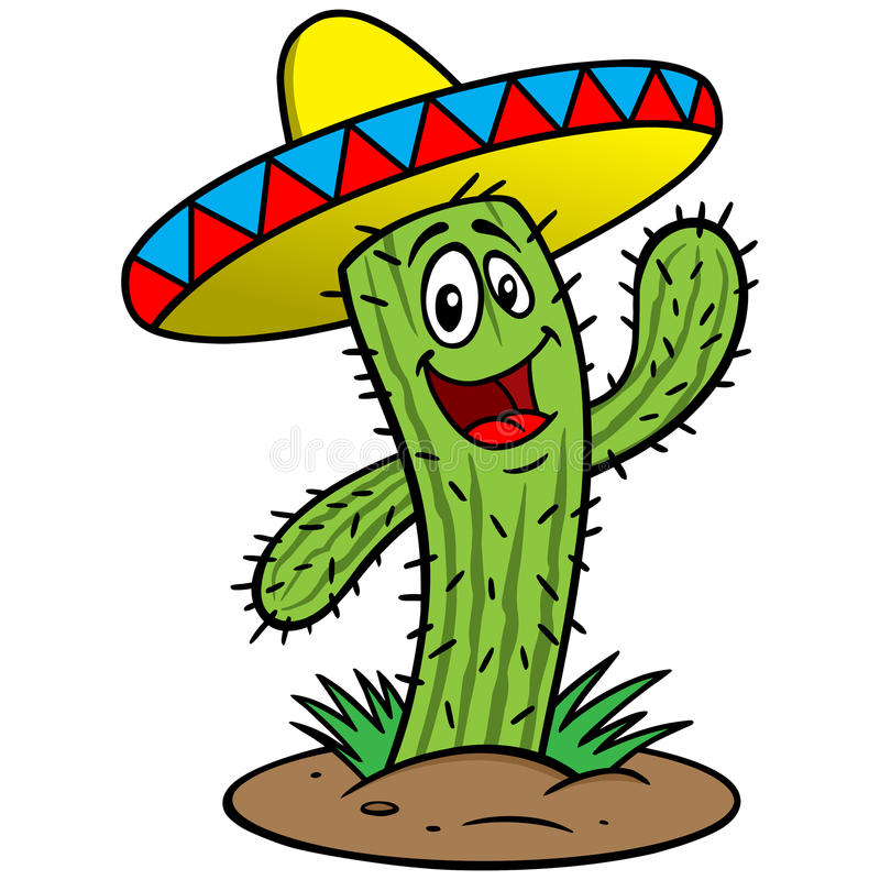 Fumetto del cactus illustrazione vettoriale