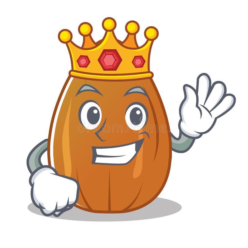 Fumetto del carattere del dado della mandorla di re royalty illustrazione gratis