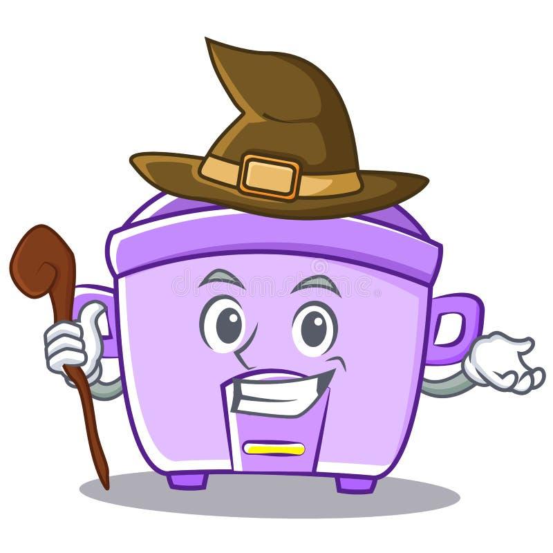 Fumetto del carattere del fornello di riso della strega illustrazione di stock