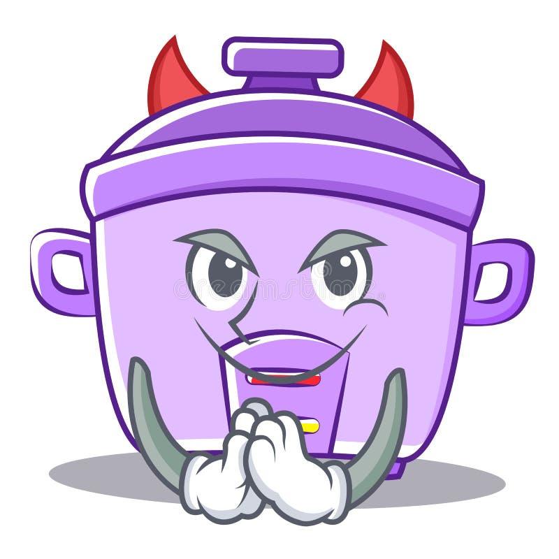Fumetto del carattere del fornello di riso del diavolo illustrazione di stock