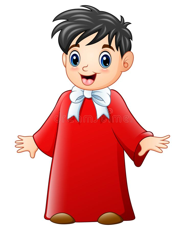 Fumetto del coro del ragazzo royalty illustrazione gratis