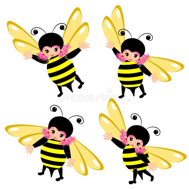 Fumetto del costume dell'ape royalty illustrazione gratis