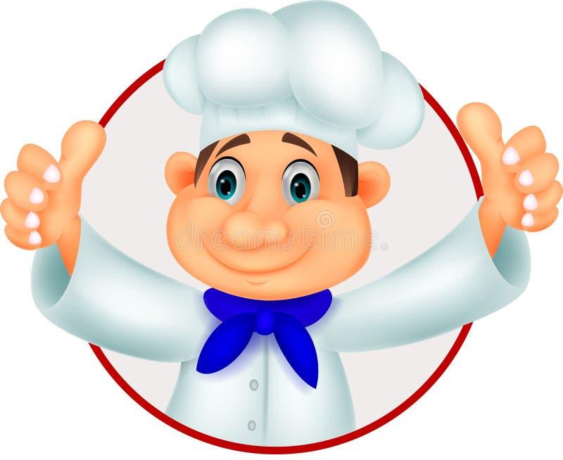 Fumetto del cuoco unico che dà pollice su royalty illustrazione gratis