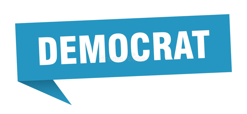fumetto del democratico illustrazione vettoriale