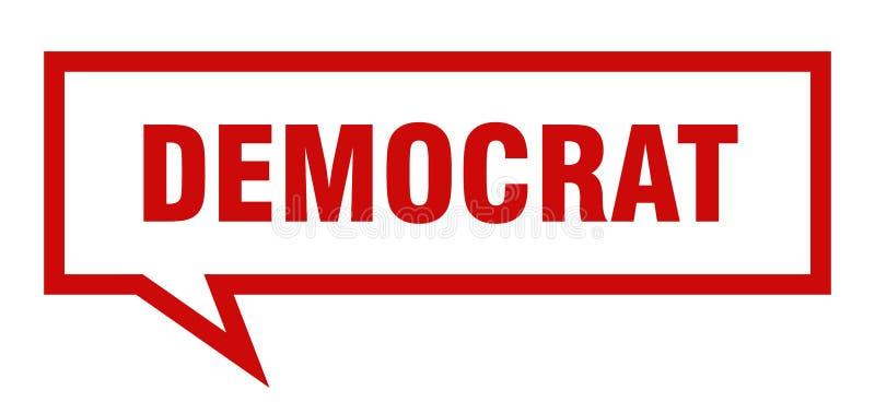 fumetto del democratico illustrazione di stock