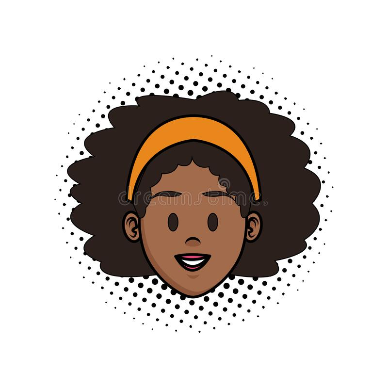 fumetto del fronte della donna illustrazione di stock