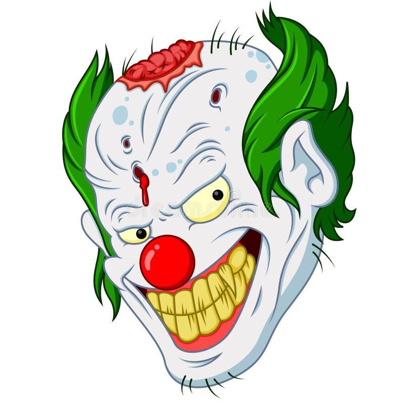 Fumetto del fronte del pagliaccio di Halloween illustrazione vettoriale