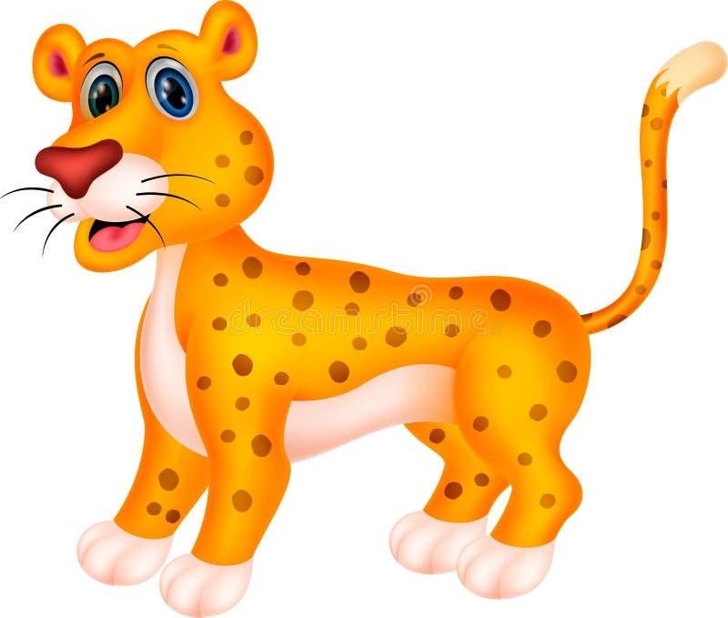 Fumetto del ghepardo illustrazione vettoriale