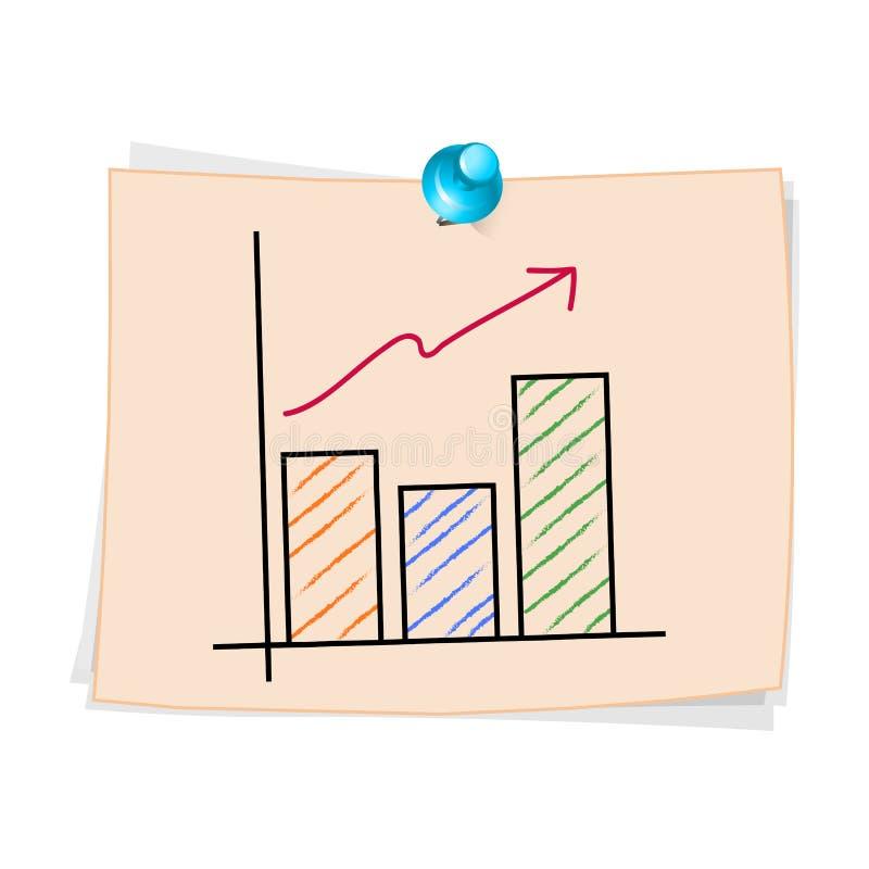 Fumetto del grafico commerciale di tiraggio della mano illustrazione vettoriale
