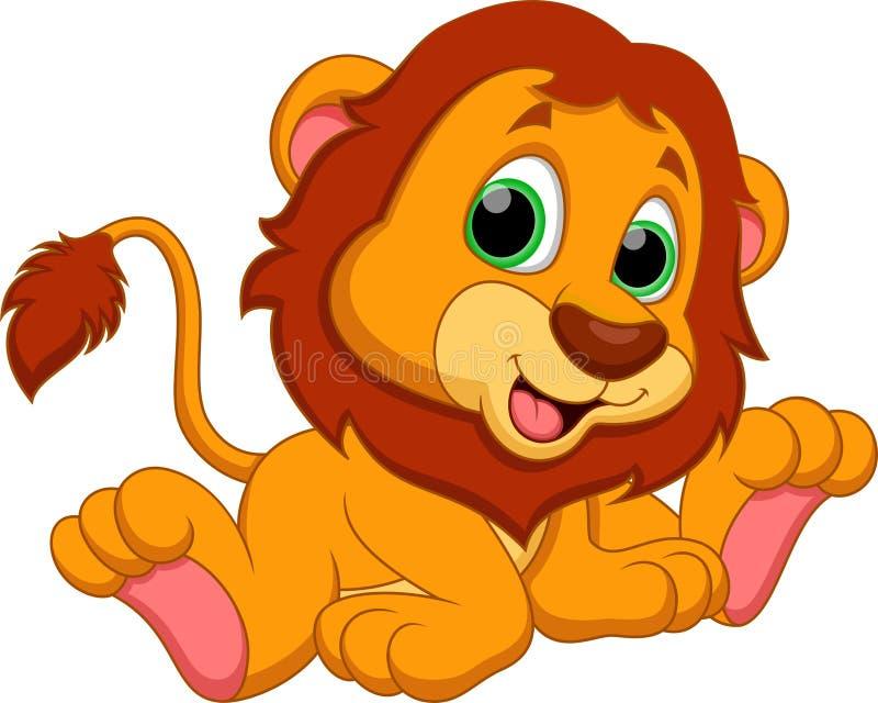 Fumetto del leone illustrazione vettoriale