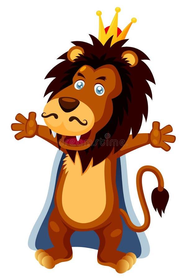 Fumetto del leone del re royalty illustrazione gratis