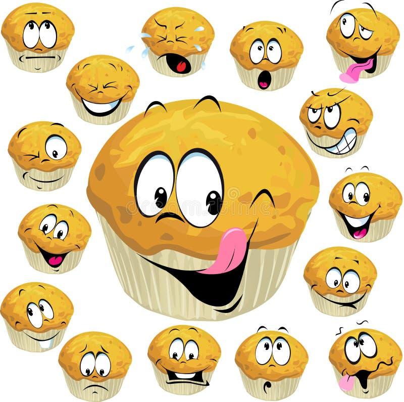 Fumetto del muffin illustrazione di stock