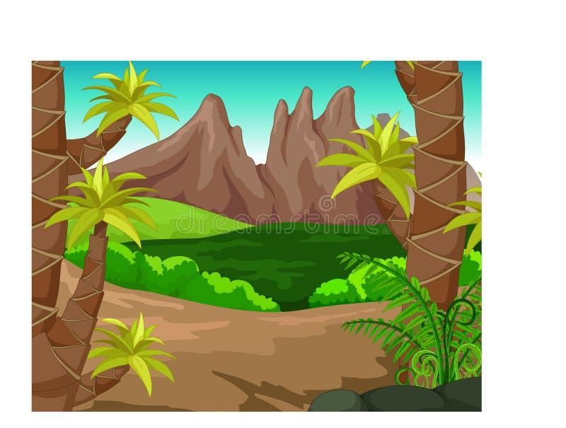 Fumetto del paesaggio illustrazione vettoriale