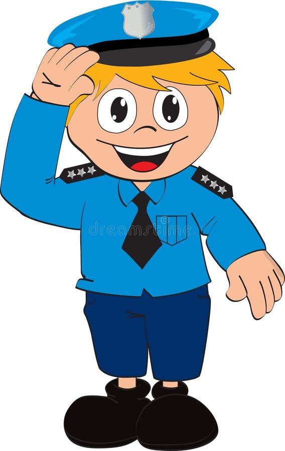Fumetto del poliziotto di vettore immagine stock libera da diritti