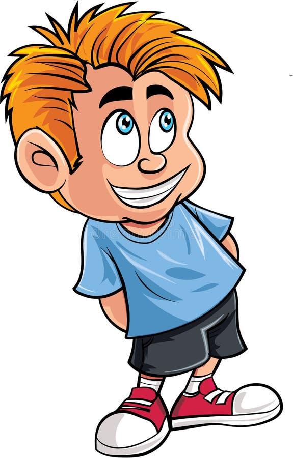 Fumetto del ragazzino sveglio illustrazione vettoriale