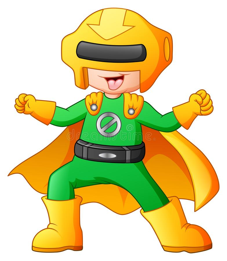 Fumetto del ragazzo del supereroe royalty illustrazione gratis