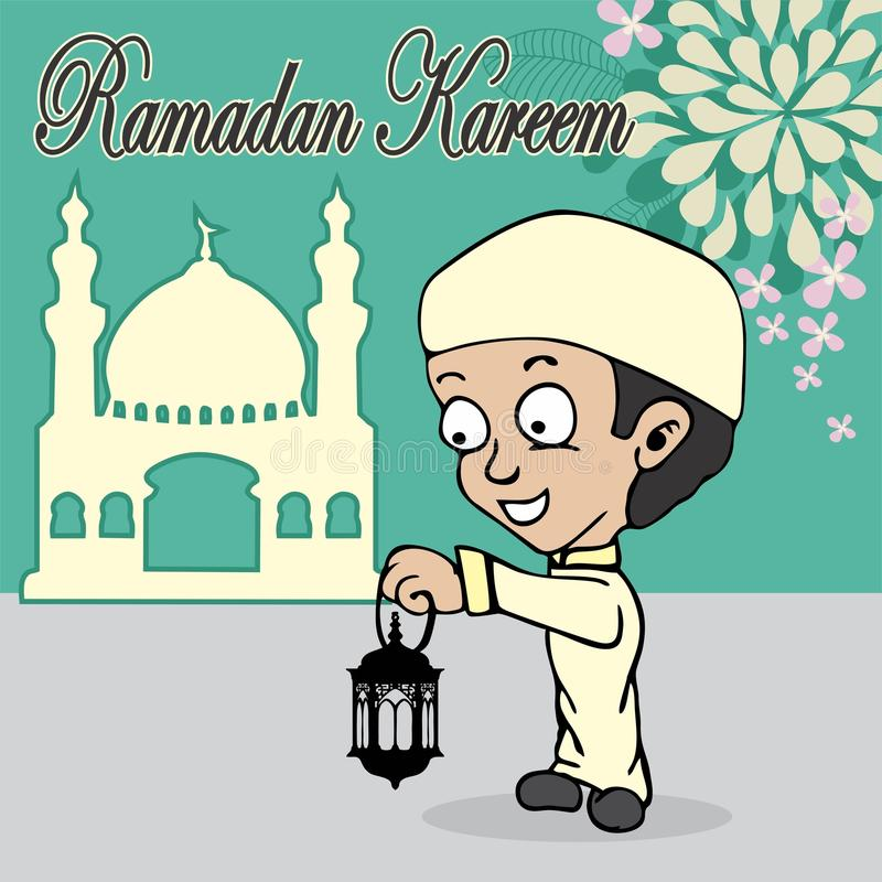 Fumetto del Ramadan royalty illustrazione gratis