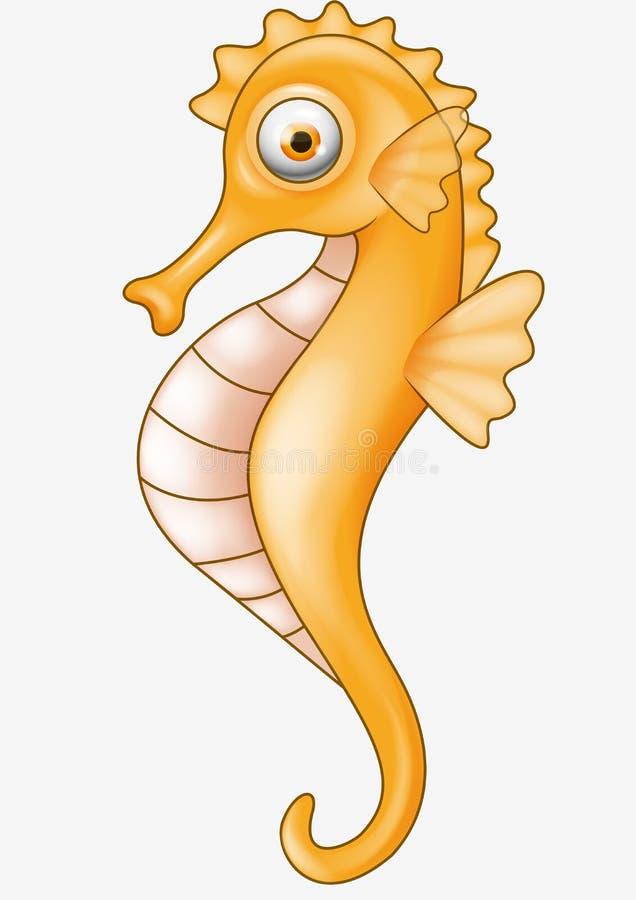Fumetto del Seahorse royalty illustrazione gratis