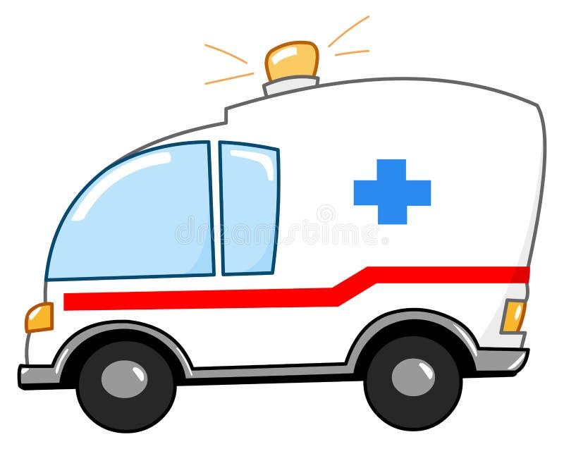 Fumetto dell'ambulanza illustrazione vettoriale