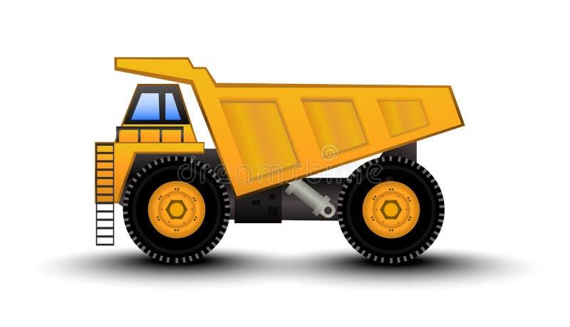 Fumetto dell'autocarro con cassone ribaltabile illustrazione vettoriale