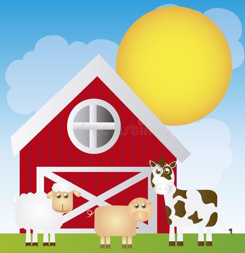 Fumetto dell'azienda agricola royalty illustrazione gratis