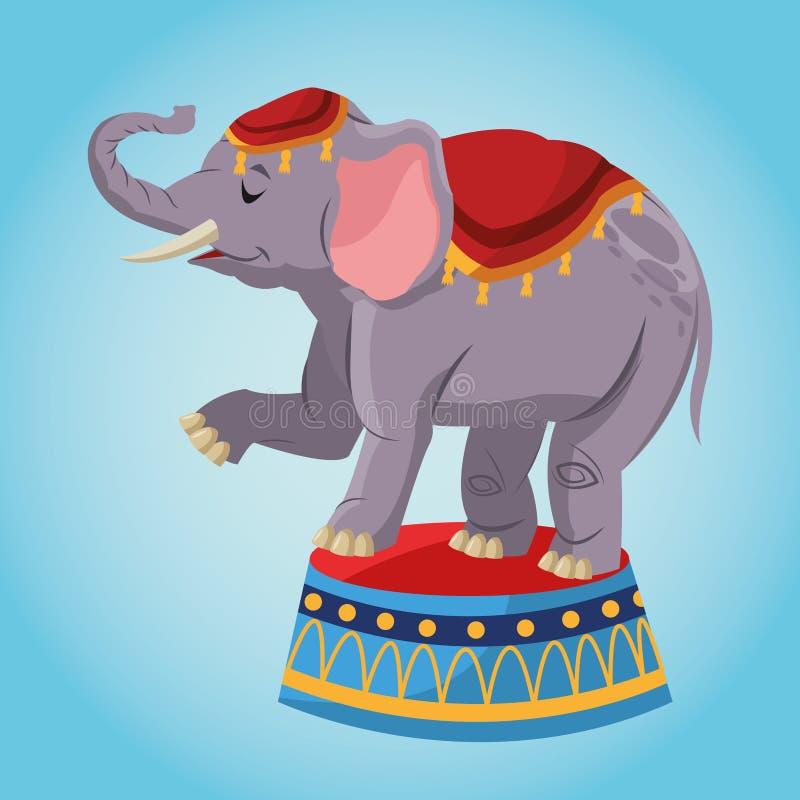 Fumetto dell'elefante del circo illustrazione di stock