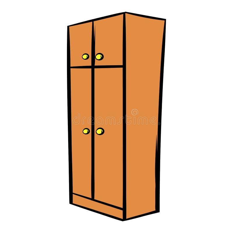 Fumetto dell'icona del guardaroba di Brown illustrazione vettoriale