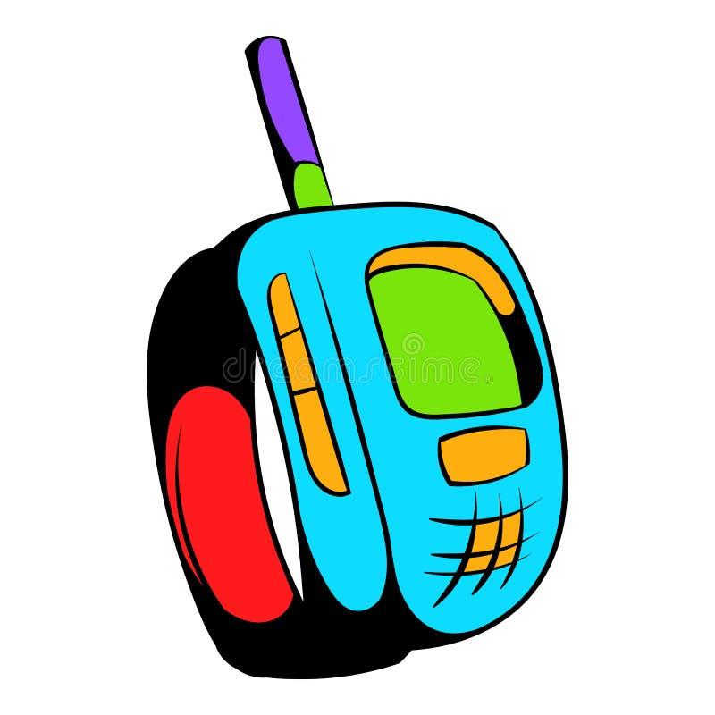 Fumetto dell'icona del trasmettitore illustrazione di stock