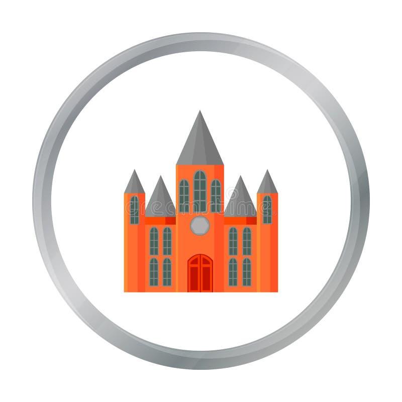 Fumetto dell'icona della chiesa Singola icona della costruzione dal grande fumetto dell'infrastruttura della città royalty illustrazione gratis