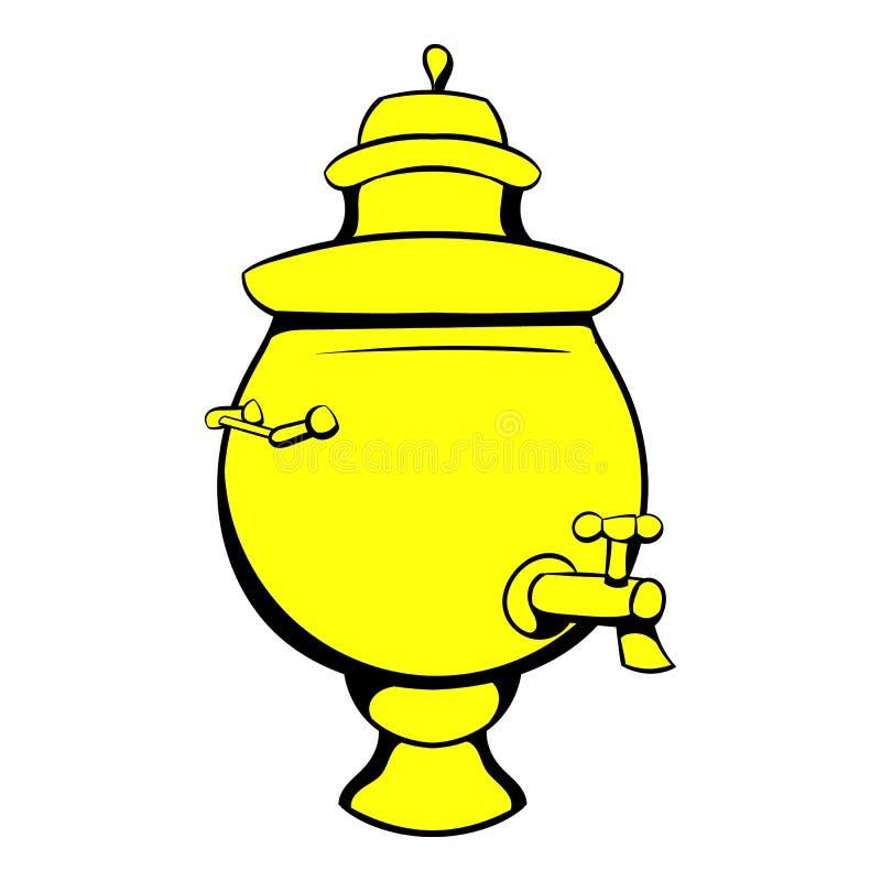 Fumetto dell'icona della samovar illustrazione di stock
