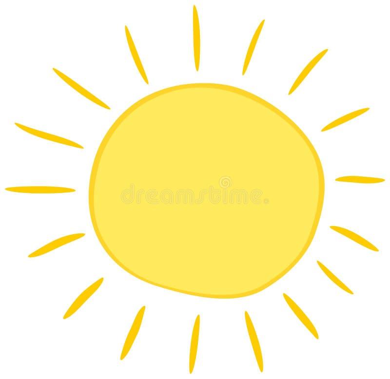 Fumetto dell'icona di Sun Simbolo solare dell'illustrazione di vettore illustrazione di stock