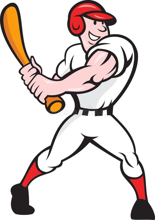Fumetto dell'ovatta del giocatore di baseball illustrazione vettoriale