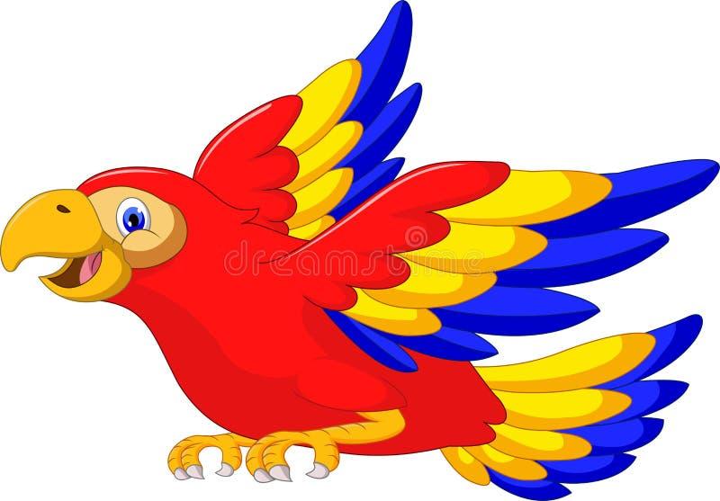 Fumetto dell'uccello dell'ala dell'ara illustrazione vettoriale